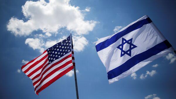 Banderas de EEUU y Israel - Sputnik Mundo