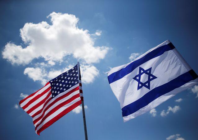 Banderas de EEUU y Israel