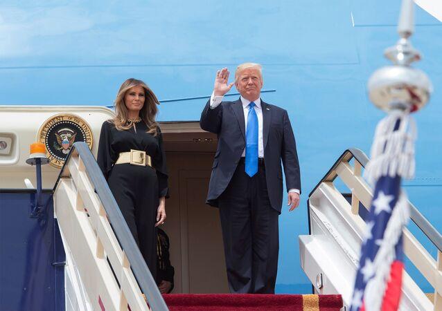 Donald Trump, presidente de EEUU, con su esposa Melania