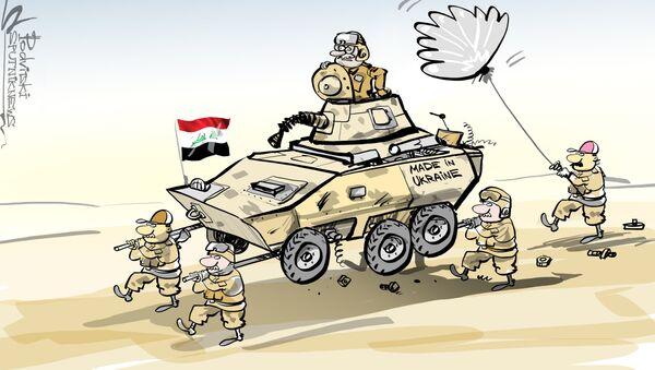 Blindados ucranianos en Irak, ni caminan ni disparan - Sputnik Mundo