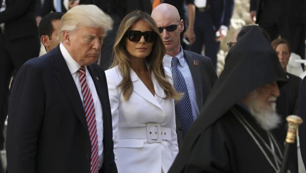 Donald y Melania Trump en Jerusalén, Israel, 22 de mayo de 2017 - Sputnik Mundo