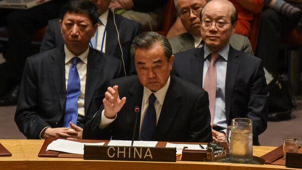 Wang Yi, ministro de Exteriores de China - Sputnik Mundo