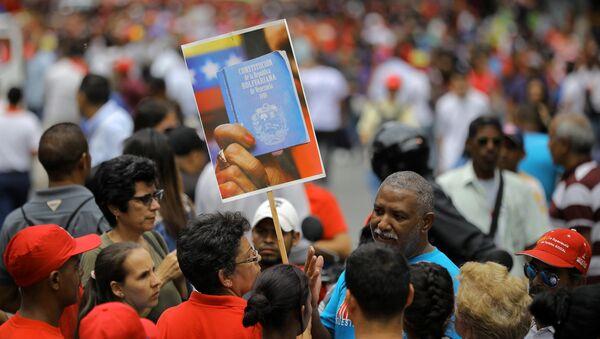 Movilización de partidarios de Nicolás Maduro en Caracas - Sputnik Mundo