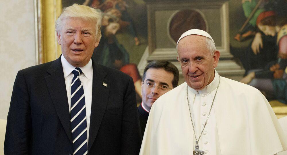Donald Trump, presidente de EEUU, y el Papa Francisco en el Vaticano