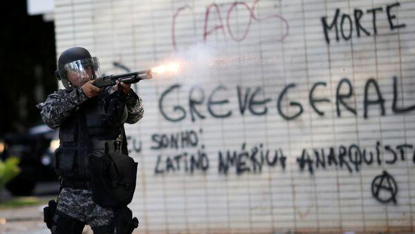 Policía brasileña - Sputnik Mundo