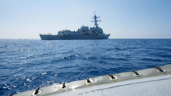 Destructor estadounidense USS Dewey (archivo) - Sputnik Mundo