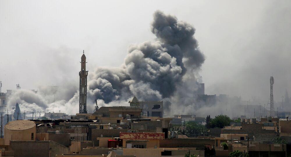 Bombardeo en Mosul, Irak (archivo)