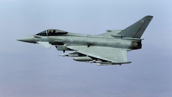Caza británico Typhoon (archivo) - Sputnik Mundo