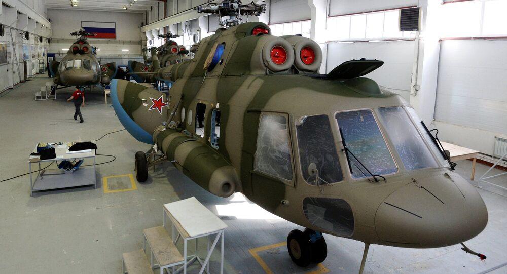 Los sistemas Richag-AV instalados sobre los helicópteros Mi-8 (archivo)