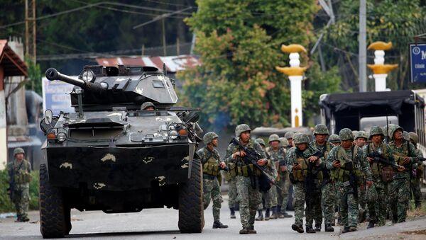 Militares de Filipinas en Marawi - Sputnik Mundo