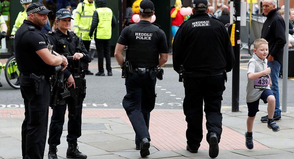 La policía en Manchester