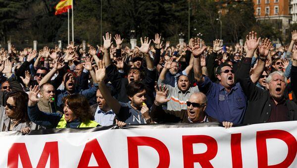 Protestas contra Uber y Cabify en Madrid (archivo) - Sputnik Mundo