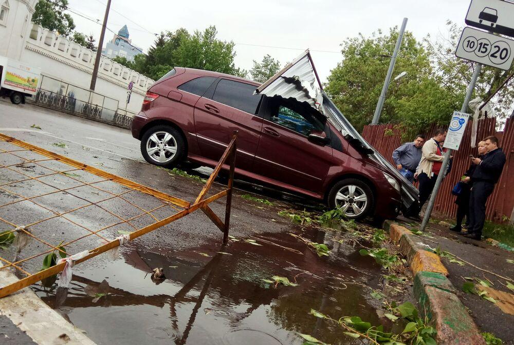 Moscú, las huellas del devastador huracán