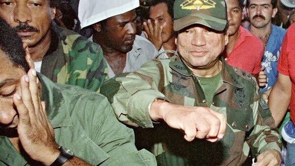 Exdictador panameño, Manuel Noriega en 1989 (archivo) - Sputnik Mundo