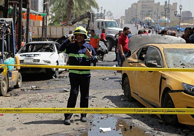 Un lugar de atentado en Irak (archivo)