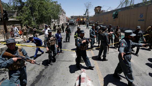 La policía de Afganictán en el lugar del atentado en Kabul (archivo) - Sputnik Mundo