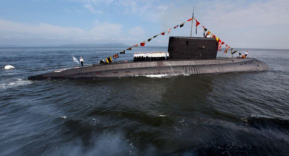 El submarino de la clase Varshavianka (archivo)