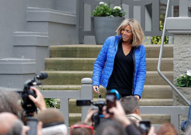 La primera dama de Francia, Brigitte Macron