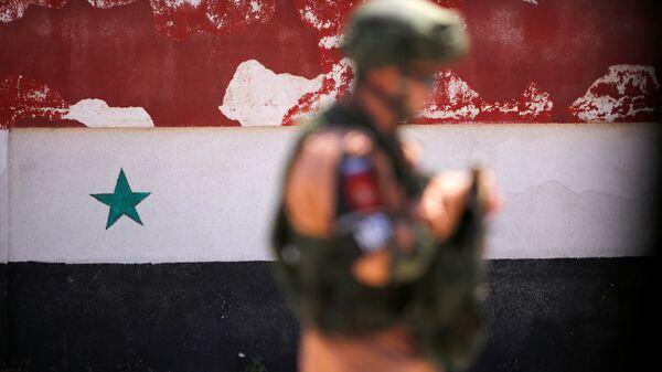 Un soldado ruso en Siria (archivo) - Sputnik Mundo