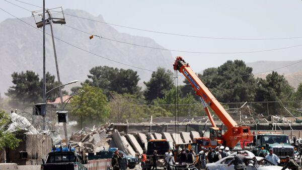 Zona del atentado de Kabul, Afganistán - Sputnik Mundo