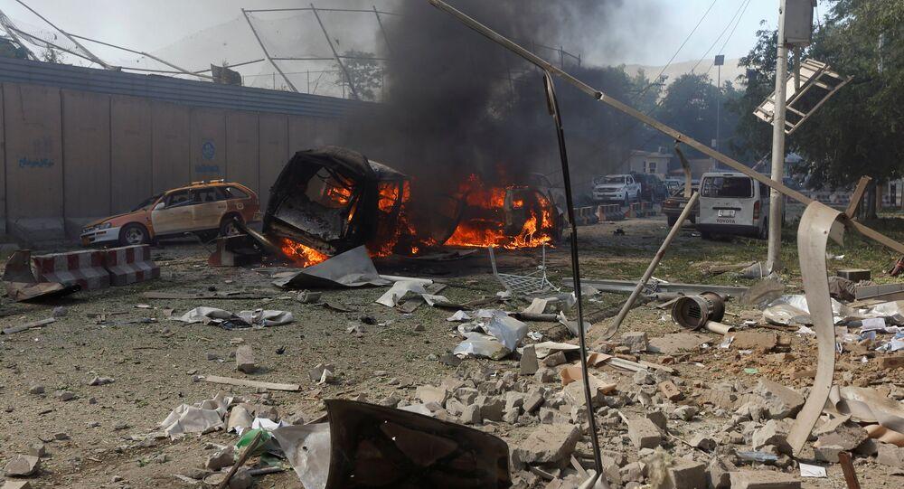 Consecuencias de un atentado de coche bomba en Afganistán (archivo)