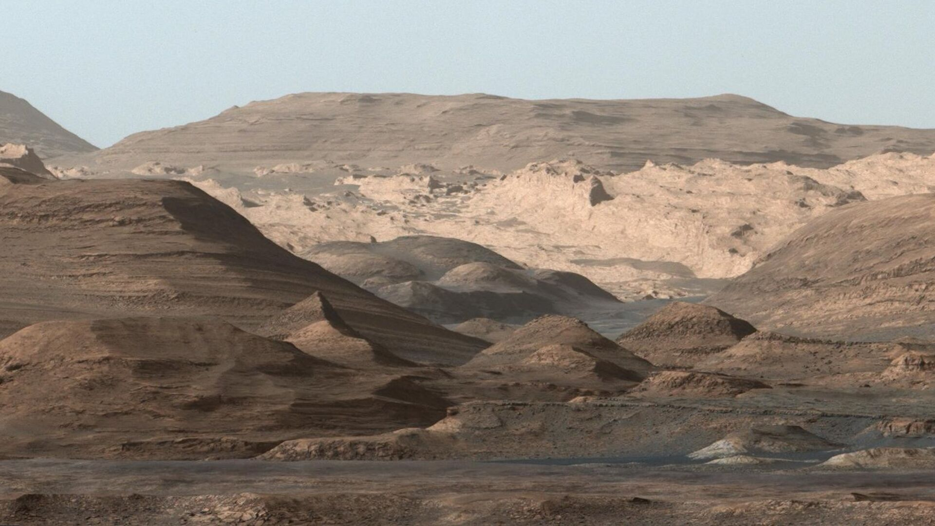El Monte Sharp en la superficie del Marte - Sputnik Mundo, 1920, 19.03.2021