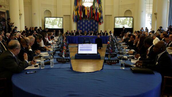 La reunión de consulta de cancilleres de la OEA (archivo) - Sputnik Mundo