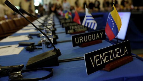 La reunión de consulta de cancilleres de la OEA - Sputnik Mundo