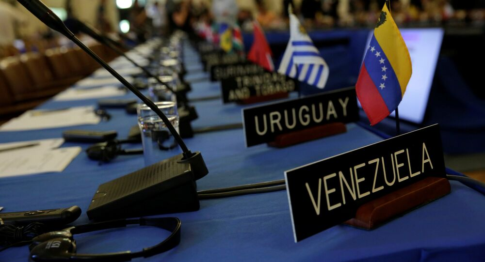 La reunión de la OEA (Archivo)