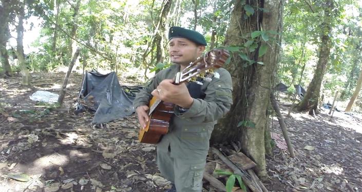 Euder Forero, uno de los guerrilleros de las FARC