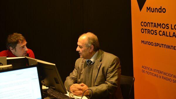 A 50 años de la Guerra de los Seis Días, el embajador de Palestina en Uruguay, Walim Abdel Rahim, visitó los estudios de Sputnik en Montevideo - Sputnik Mundo