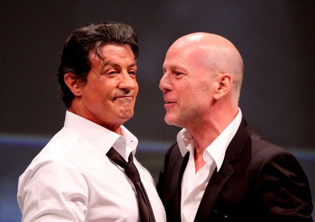 Sylvester Stallone y Bruce Willis en Comic-Con 2010