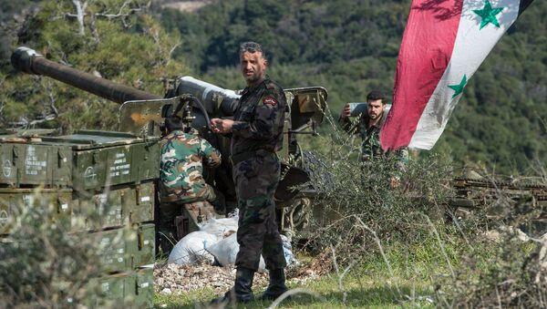 Soldados del Ejército sirio en la provincia de Idlib (archivo) - Sputnik Mundo