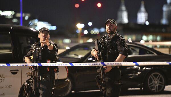 Lugar del atentado en Londres - Sputnik Mundo
