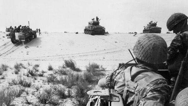 Soldados de Israel durante la Guerra de los Seis Días (archivo) - Sputnik Mundo