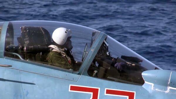 Un piloto militar ruso en Siria - Sputnik Mundo