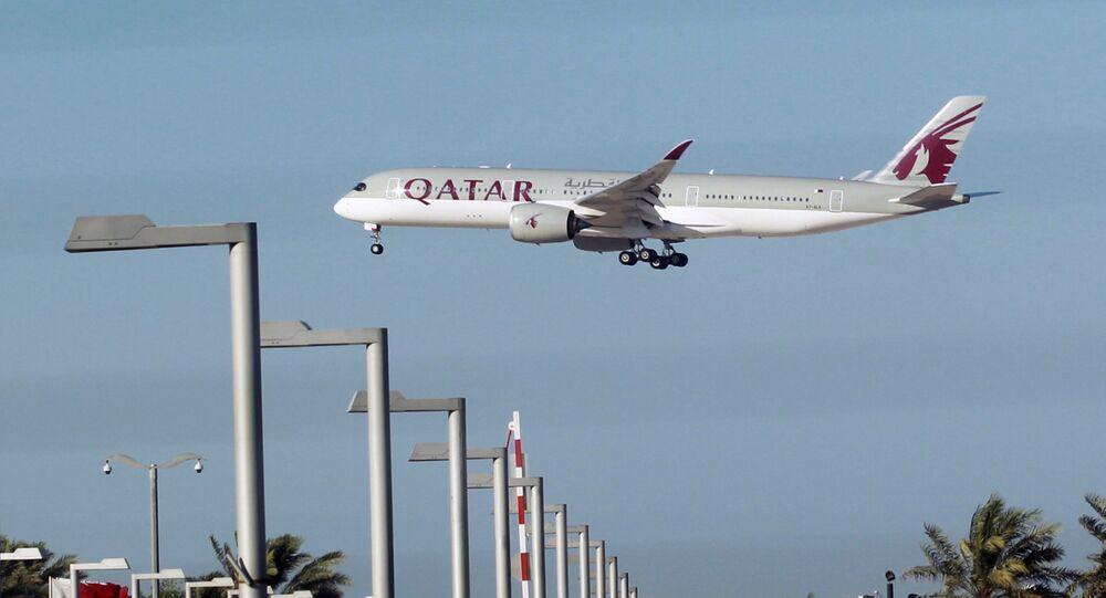 Un avión de Qatar Airways en Doha