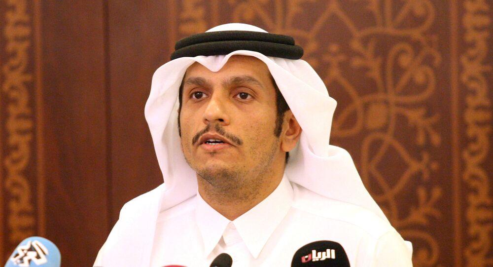 Mohammed bin Abdulrahman Thani, ministro de Exteriores catarí
