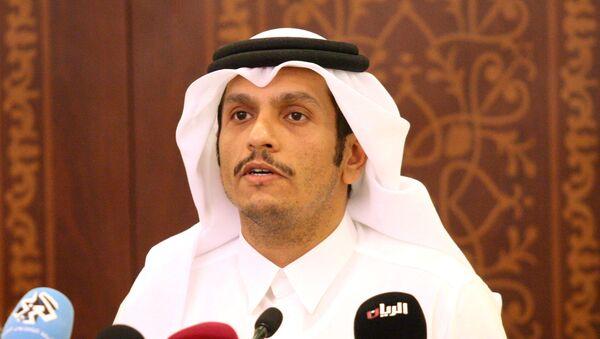 Mohammed bin Abdulrahman al Thani, ministro de Exteriores catarí (archivo) - Sputnik Mundo