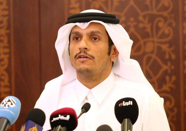 Mohammed bin Abdulrahman al Thani, ministro de Exteriores catarí (archivo)