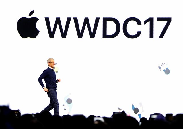 Tim Cook durante WWDC17