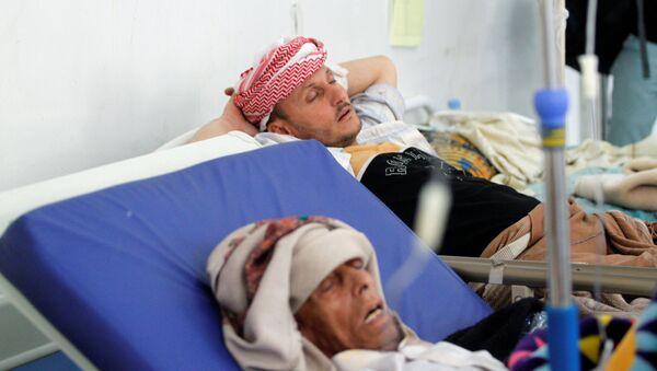Enfermos de cólera en Yemén (archivo) - Sputnik Mundo