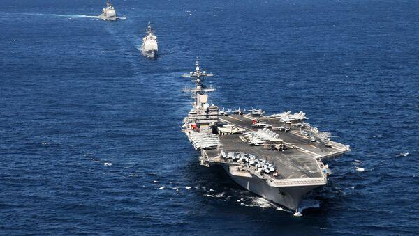 Portaviones USS George H.W. Bush (archivo) - Sputnik Mundo
