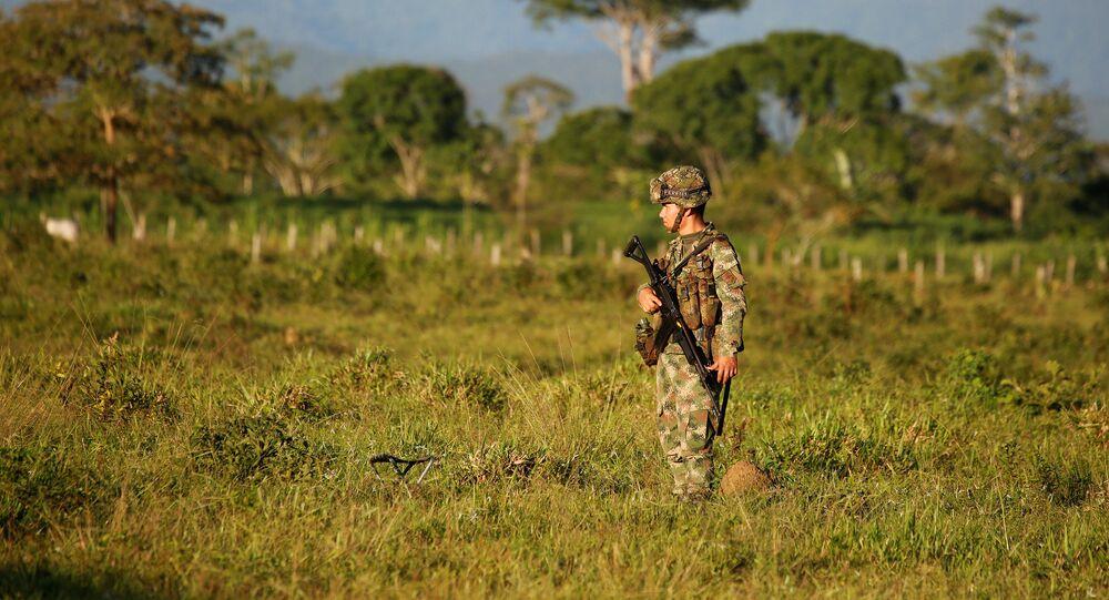 Un militar colombiano