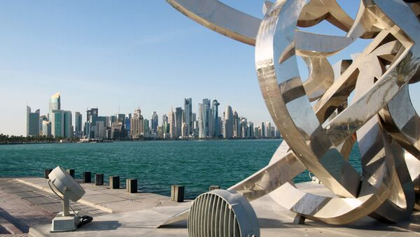 Buildings are seen from across the water in Doha, Qatar June 5, 2017. - Sputnik Mundo