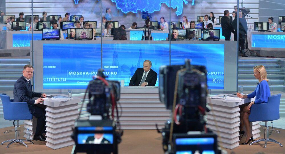 La edición de 2016 de la 'Línea directa con Vladímir Putin'
