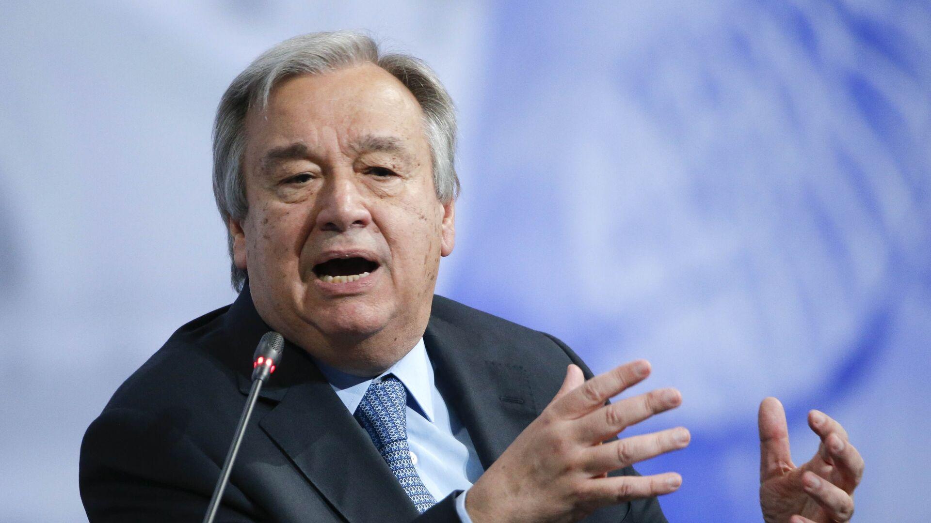 António Guterres, secretario general de la ONU - Sputnik Mundo, 1920, 25.05.2021
