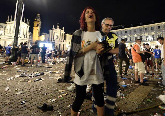 Alrededor de 600 personas han resultado heridas en el centro de la ciudad italiana de Turín, donde miles y miles se congregaron el 3 de junio en la plaza San Carlo para ver la final de la Champions League.