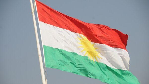 Bandera de Kurdistán (archivo) - Sputnik Mundo
