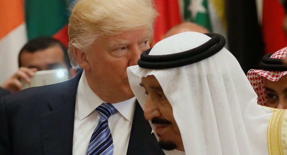 Donald Trump, presidente de EEUU, y Salman bin Abdulaziz Saud, rey de Arabia Saudí